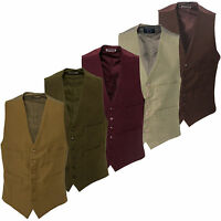 New Carabou Countrywear Mens Smart Formal Moleskin Buttoned Waistcoat S-3XL