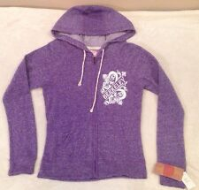 Women's UC Berkeley UCB CAL Purple French Terry Zip Hood Sweatshirt Hoodie Med *