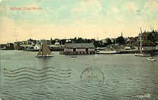 Vintage Postcard Sydney Sailboat & Dock NS Nova Scotia Canada Cape Breton