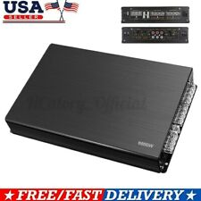 6800W Subwoofer Power Amplifiers Car 4 Channel Stereo Audio Aluminium Bass Amp