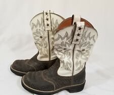 WOMENS ARIAT FATBABY Brown CRACKLE Stars COWBOY /GIRL WESTERN BOOTS SIZE 7B