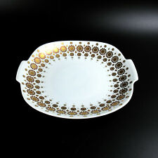 Kaiser Porzellan Schale Dekor Juwel 70er Jahre Design Golddekor ca. 20,5cm