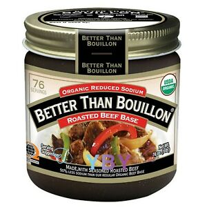 Better Than Bouillon Organic Roasted Beef Base Bouillon, Reduced Sodium 16 oz