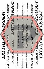 EXITUS ACTA PROBAT Vinyl Cerakote Application Stencil, Top quality, Best Price.