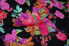 5m x 1.65m wide BALI FLORAL Med-Weight Swimwear Lycra Fabric
