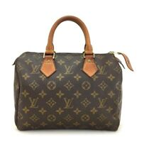 100% Authentic Louis Vuitton Monogram Speedy 25 Boston Travel Hand bag /17