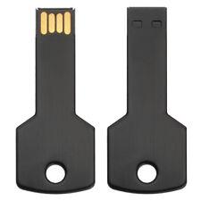 16GB USB 2.0 Negro Flash Drive Metal Llave Shape Pen Drive Card Memoria Palo OTG