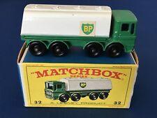 Vintage Lesney Matchbox Series No. 32 Leyland BP Petrol Tanker with Box