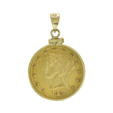 1881 5 Dollars Liberty Head Gold Coin In 14K Gold Frame