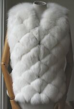 HARRODS WHITE FUR MADE BY SAGA FURS VEST GILET SMALL