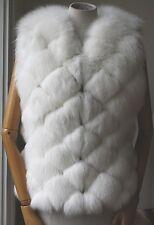 HARRODS WHITE FUR MADE BY SAGA FURS VEST GILET SMALL