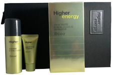 Higher Energy by Dior Men Set3.4oz Eau deToilette Spray, Deo,A/S Balm Pouch RARE