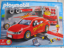 Playmobil - 4321 Atelier voiture tuning rouge