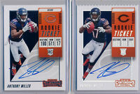ANTHONY MILLER > 2pc > 2018 Contenders Rookie Ticket & STUB SP Ticket /17 AUTOs