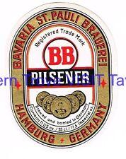 Bavaria St Pauli Brauerei Pilsener 11 US oz Hamburg Germany Beer Label