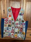 Vintage Lot Of 100+ Beer Patches on Large Vest - One of a Kind