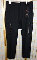 NWT Balmain x H&M HM Mens Cargo Pants Trousers Italian Wool Hose SZ 32 rare nice