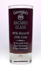 Personalised BACARDI % Highball Glass Gift Nanny/Mum/Dad/Birthday/Christmas/Nan