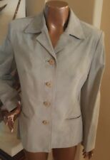 Danier Leather Genuine Suede Women's Blazer Jacket Light Blue Small NWT $325