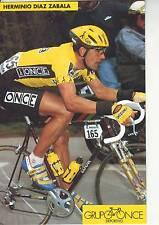 CYCLISME carte  cycliste HERMINIO DIAZ ZABALA équipe ONCE 1993