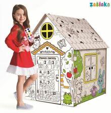 "House-coloring from cardboard ""My house"" Дом-раскраска из картона «Мой домик»"