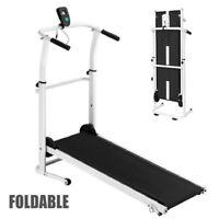 Folding Manual Walking Treadmill Machine W/LCD Display Cardio Fitness Exercise U