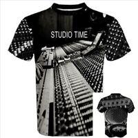 STUDIO TIME Recording Record Producer DJ pro mic microphone MUSIC T-SHIRT STF
