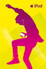 Original Vintage Poster iPod Apple Mac Music Dance Party 2007 Digital Billboard