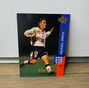 1998 Upper Deck England Michael Owen Rookie Card- On The Edge- Retro