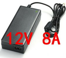 AC 100V-240V Converter Adapter DC 12V 8A 96W Power Supply Charger DC 5.5mm New