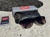 Ray-Ban Blaze Clubmaster Gunmetal Frame W/ Brown Gradient Lens RB3576N 041/13