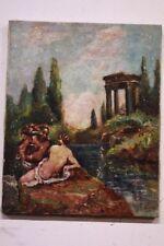 Quadro dipinto olio su tela raffigurante soggetto mitologico XX sec painting oil