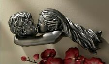 Dream Lovers Wall Sculpture Kissing Couple Mythic Spiral Attractive Chic Display