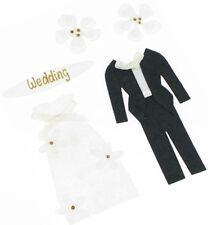 3D WEDDING BRIDE & GROOM Handmade Sticker Embellishments Craft Pack. Free UK P&P