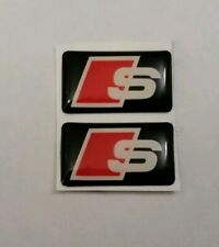 AUDI S 3D DOMED BADGE LOGO EMBLEM STICKER GRAPHIC DECAL S1 S2 S3 S4 S5 S6 S7 S8