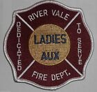 """River Vale Fire Dept Ladies Auxiliary Patch - New Jersey - 4"""" x 4"""""""