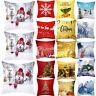 "18x18"" Christmas Sofa Pillow Case 3D Snowman Cushion Cover Decorative Cover Gift"