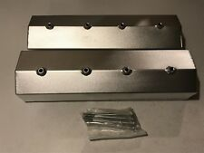 PRW Fabricated Aluminum Valve Covers Small Block Chevy V8 Center Bolt Pattern