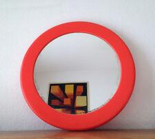 SUPERBE  Miroir rond  Orange  Vintage    années 70   nov21