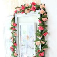 Artificial Rose Flower Floral Fake Vine Hanging Garland Party Wedding Decor