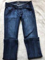 7 For all mankind Women's Size 28 True Rocker Pants Dark Wash Blue Jeans