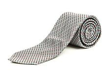 "Louis Vuitton NWT Gray Blue Red Small Plaid Pattern 100% Silk Skinny Tie 2 3/4"""