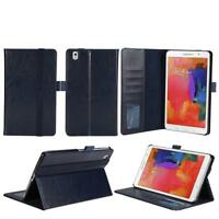 "MaximalPower BLUE Leather Case For Samsung Galaxy Tab Pro 8.4"" w/ Card Slots"