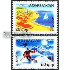 Aserbaidschan Azerbaijan Europa CEPT 2012, Visit ..., Satz ** komplett (postfr.)