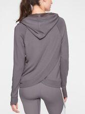 Athleta - Criss Cross Back Hoodie Sweatshirt Flagstone Gray XS 2 US $79 NEW
