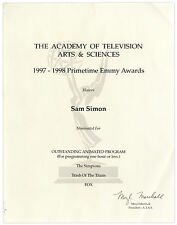 Emmy Nomination for ''The Simpsons'' Trash Of The Titans''