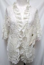 Lady Cameo Camco Dallas Vintage lace top blouse Size Sz Large Lg L