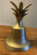 Vintage Brass Bronze Pineapple Top Bell Patina Collectible