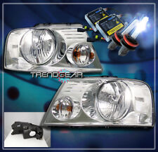 2004-2008 FORD F-150 PICKUP CRYSTAL HEADLIGHTS+HID KIT LAMP CLEAR 2005 2006 2007