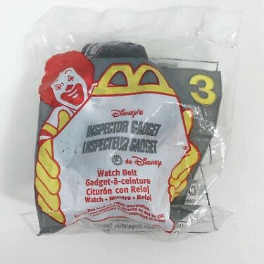 McDonalds Happy Meal Toy Disney Inspector Gadget Watch Belt NIP Vintage 1999